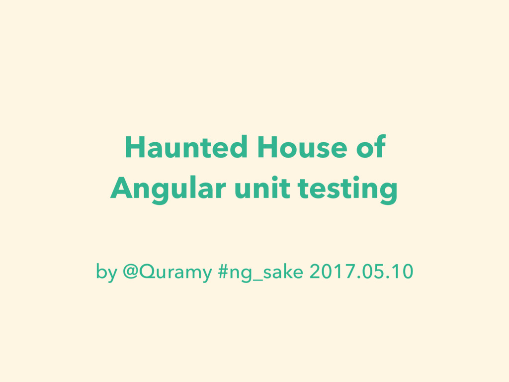 Haunted House of