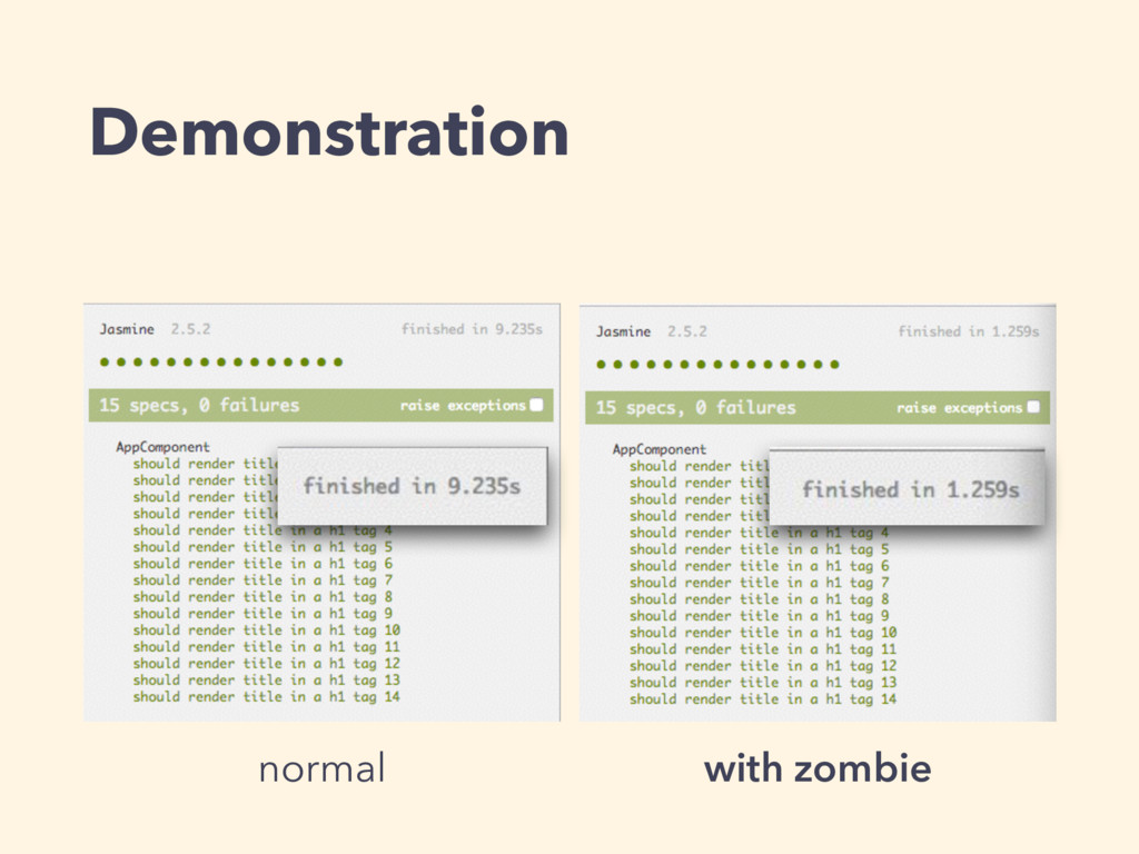 Demonstration normal with zombie