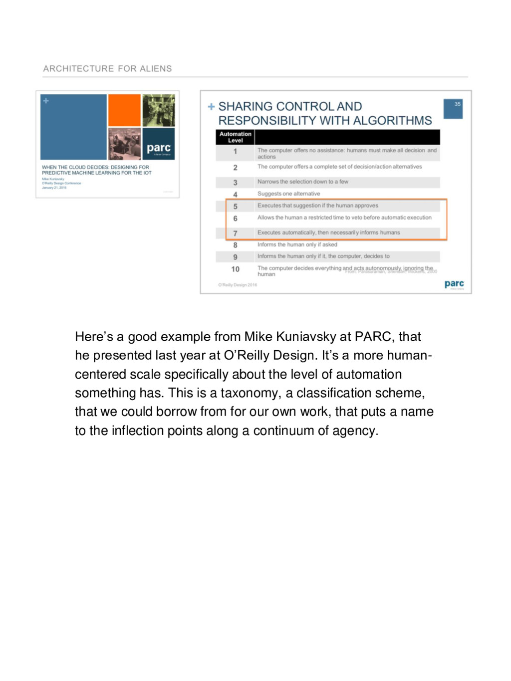 Here's a good example from Mike Kuniavsky at PA...