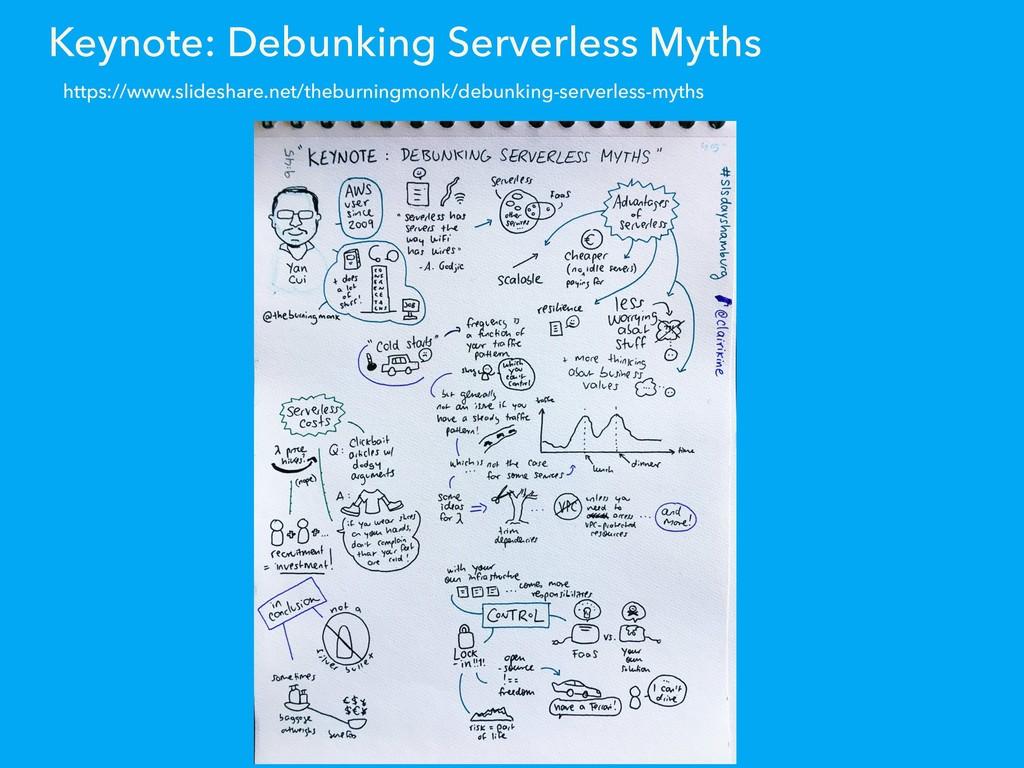 Keynote: Debunking Serverless Myths https://www...