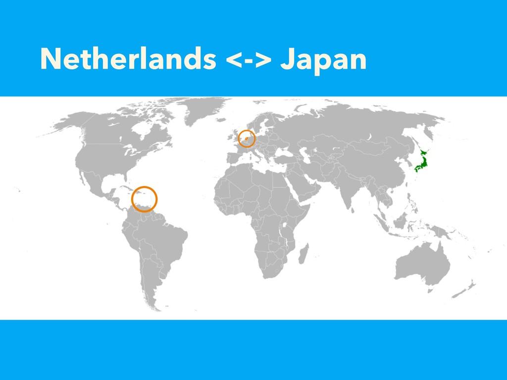 Netherlands <-> Japan