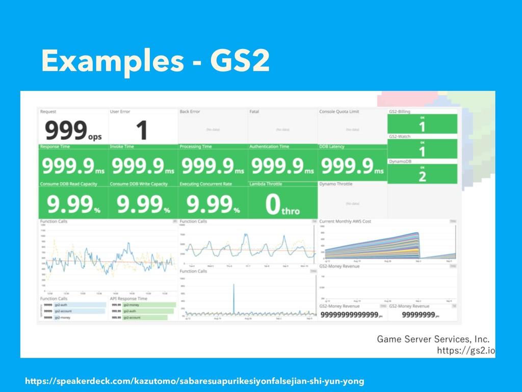Examples - GS2 https://speakerdeck.com/kazutomo...