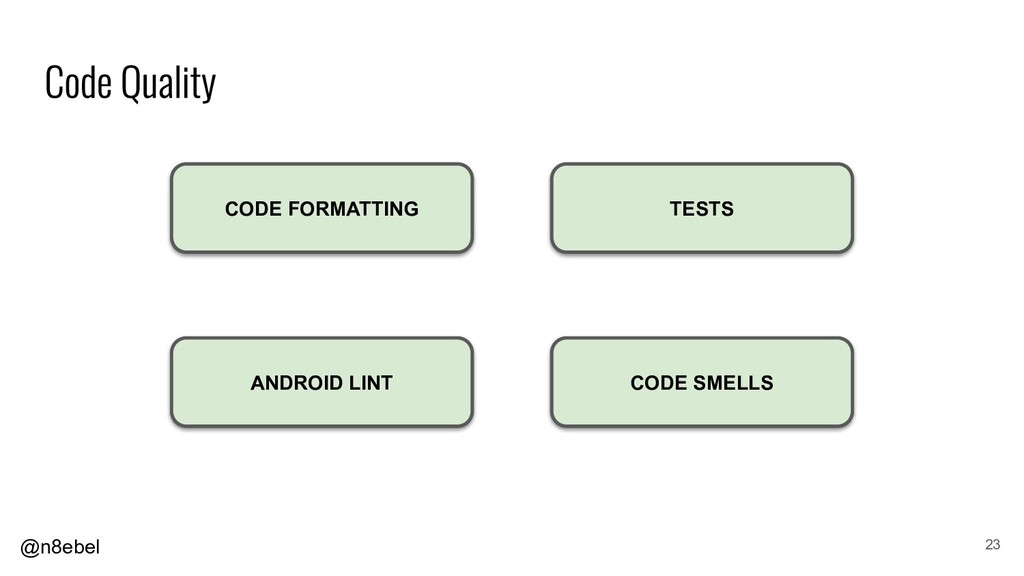 @n8ebel 23 ANDROID LINT CODE FORMATTING CODE SM...