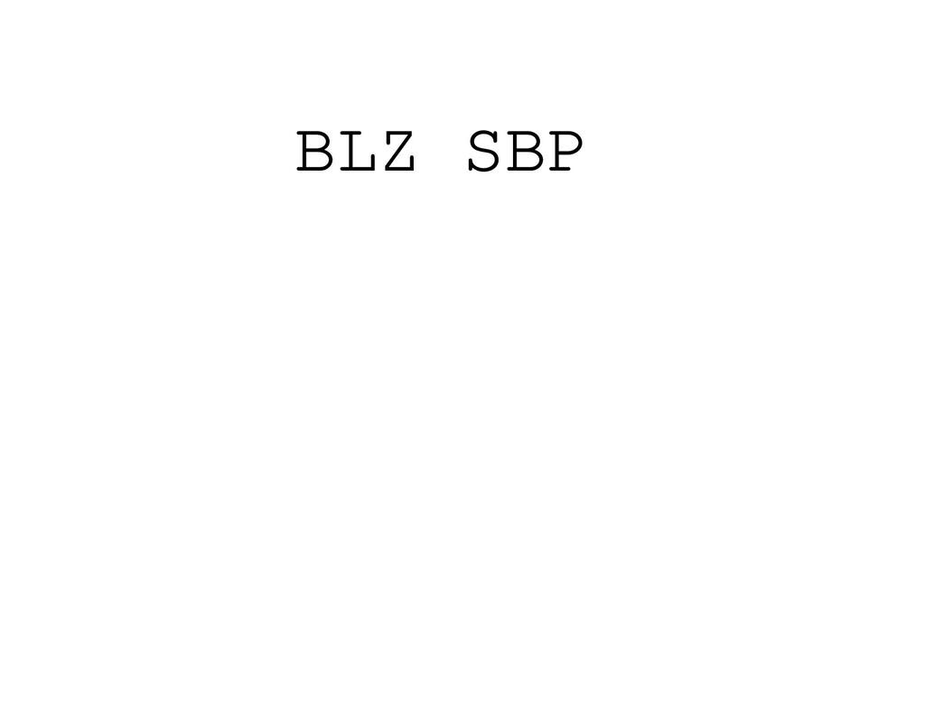 BLZ SBP