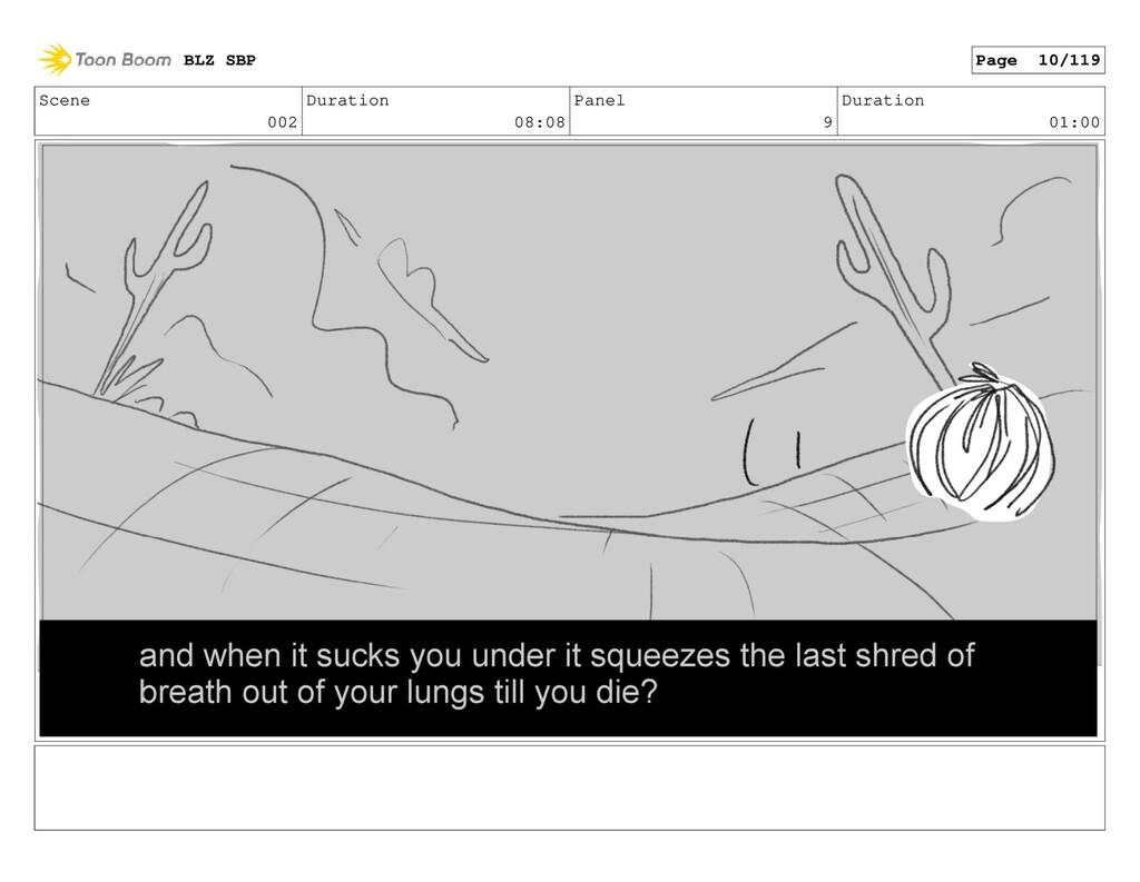 Scene 002 Duration 08:08 Panel 9 Duration 01:00...