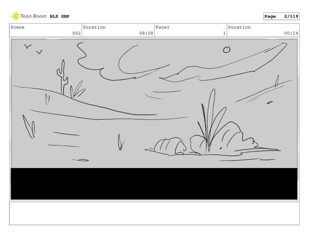 Scene 002 Duration 08:08 Panel 1 Duration 00:14...