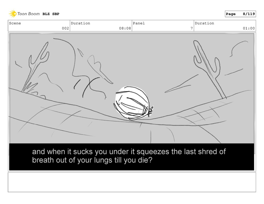 Scene 002 Duration 08:08 Panel 7 Duration 01:00...