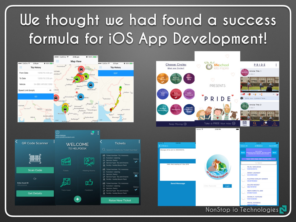 We thought we had found a success formula for i...