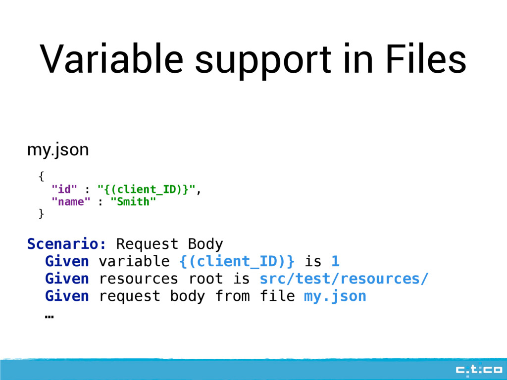 Variable support in Files {
