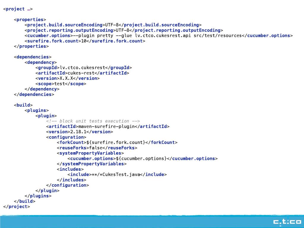 <project …>  <properties> <project.build.sou...
