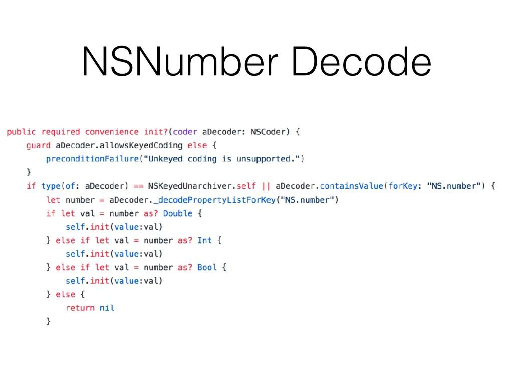 NSNumber Decode