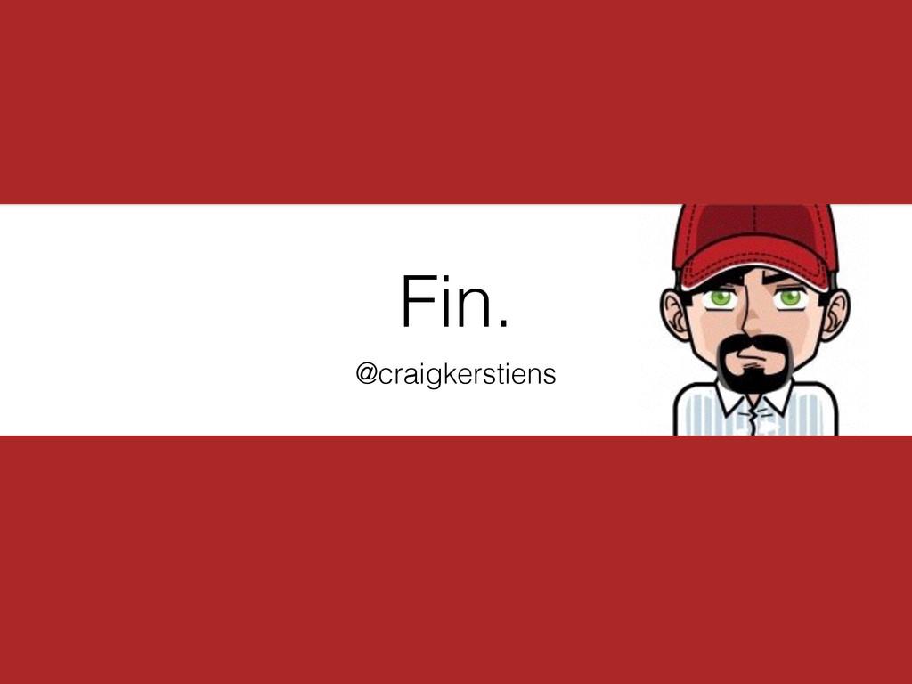 Fin. @craigkerstiens