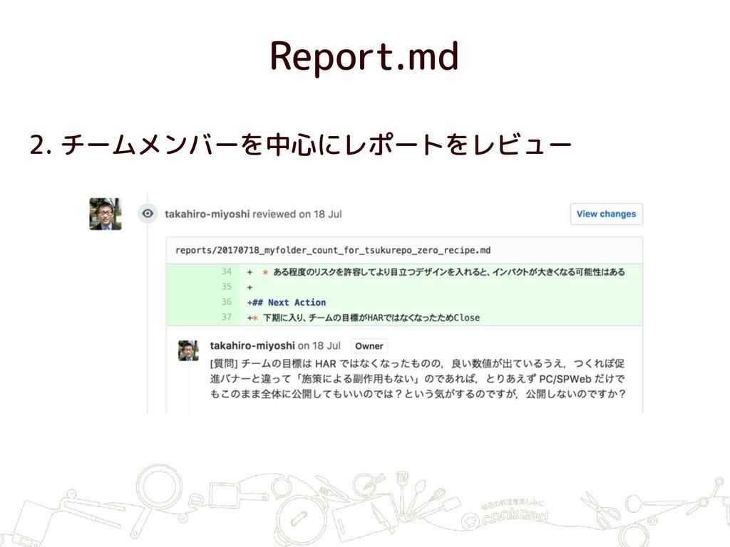 Report.md 2. チームメンバーを中心にレポートをレビュー