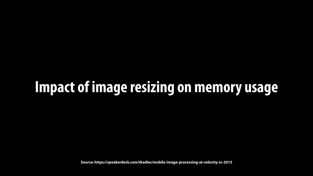 Impact of image resizing on memory usage Source...