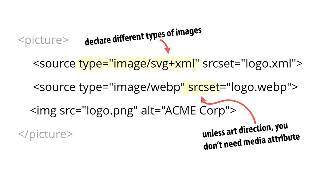 declare different types of images unless art dir...
