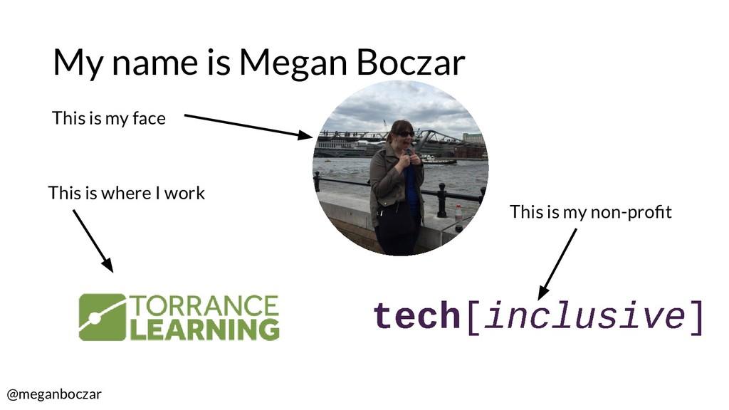 @meganboczar My name is Megan Boczar This is my...