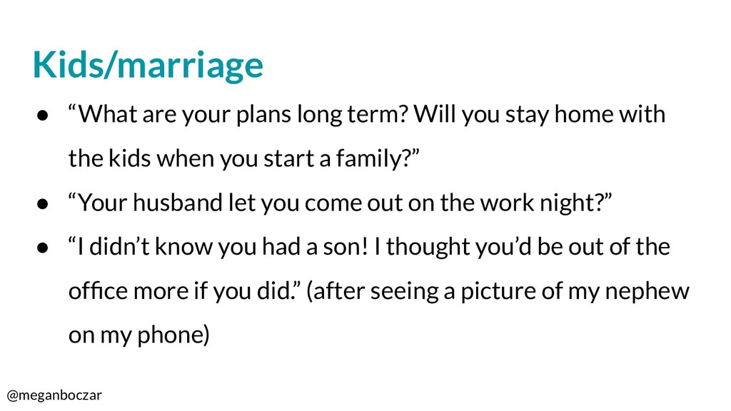 """@meganboczar Kids/marriage ● """"What are your pla..."""