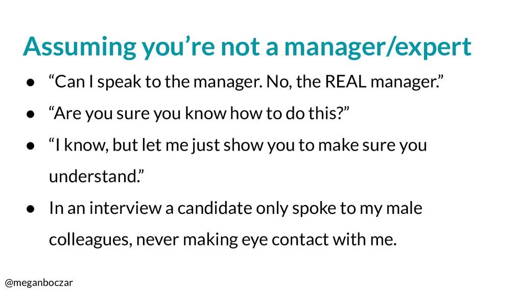 @meganboczar Assuming you're not a manager/expe...