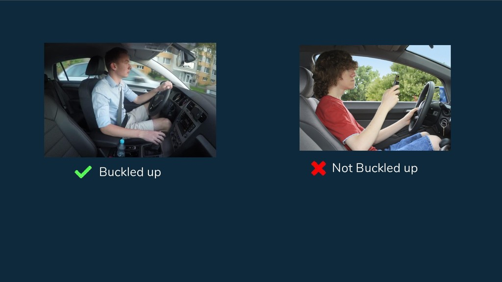 Buckled up Not Buckled up
