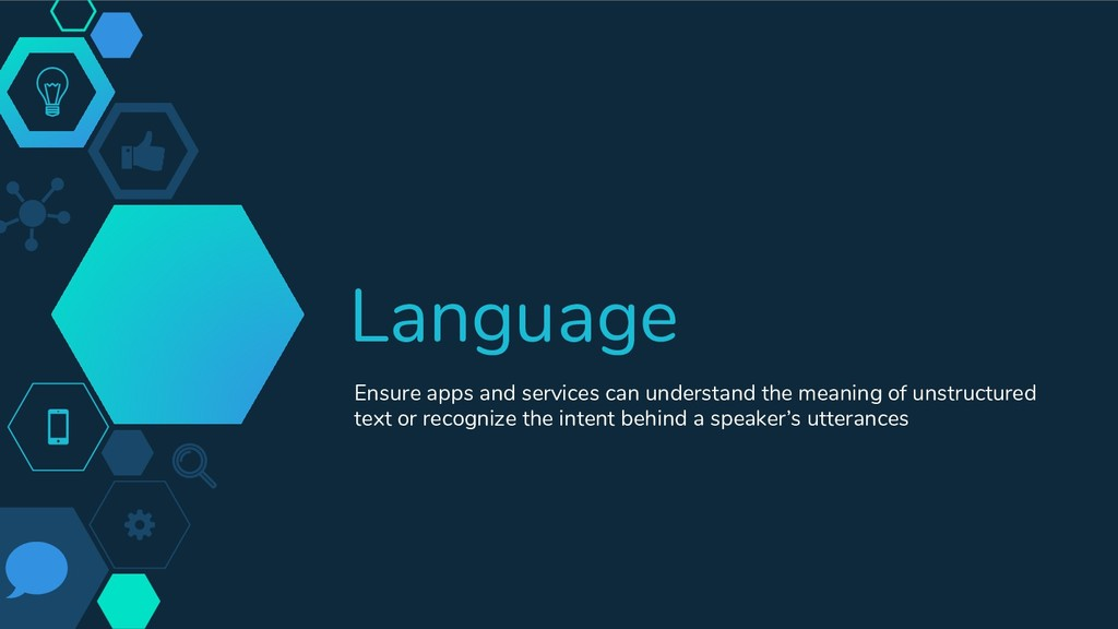 Language Ensure apps and services can understan...