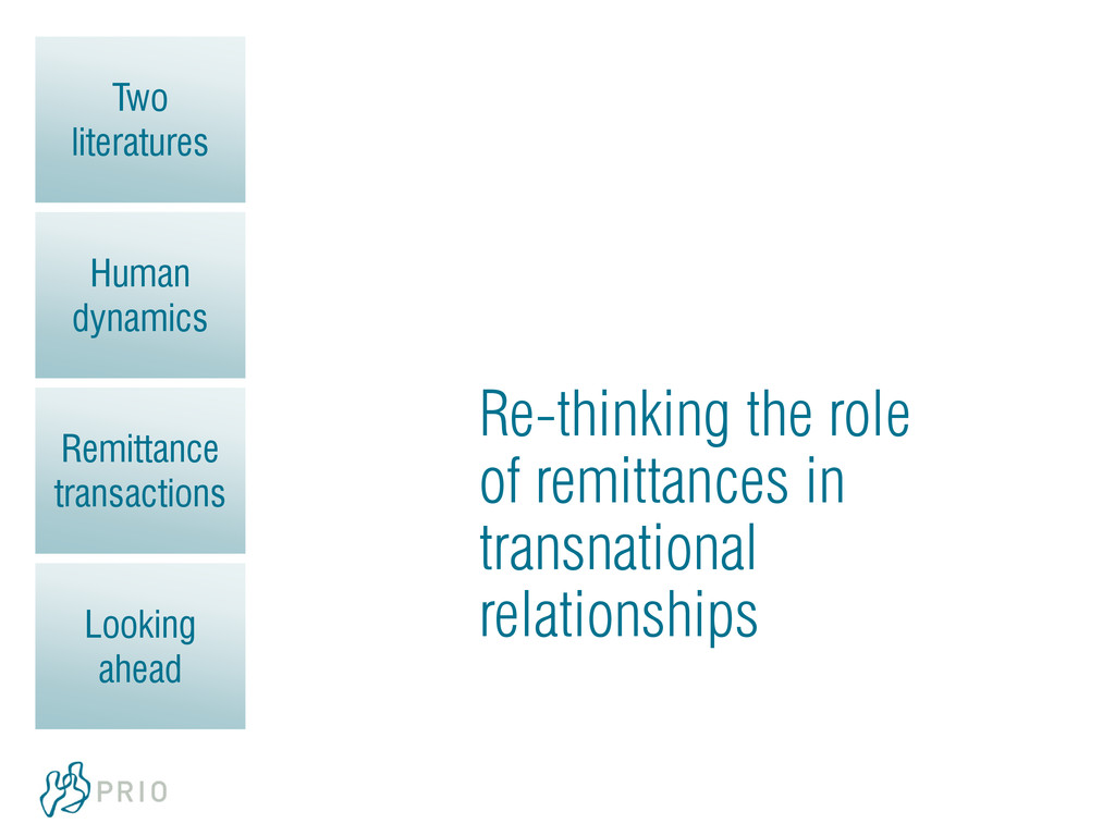 Two literatures Human dynamics Remittance trans...