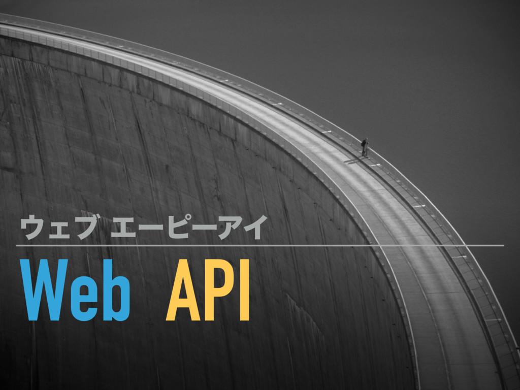 Web API ΣϒΤʔϐʔΞΠ
