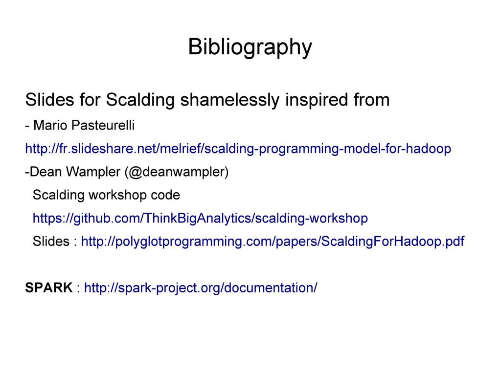 Bibliography Slides for Scalding shamelessly in...