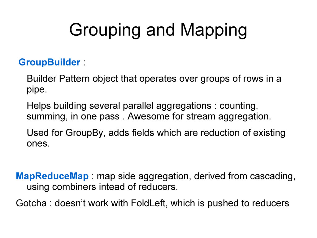 Grouping and Mapping GroupBuilder : Builder Pat...