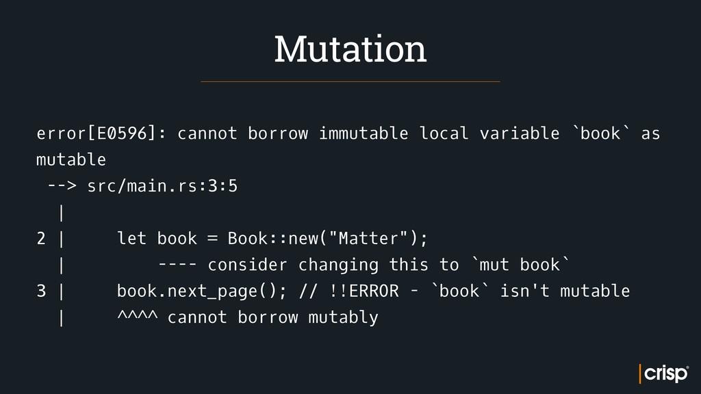 error[E0596]: cannot borrow immutable local var...