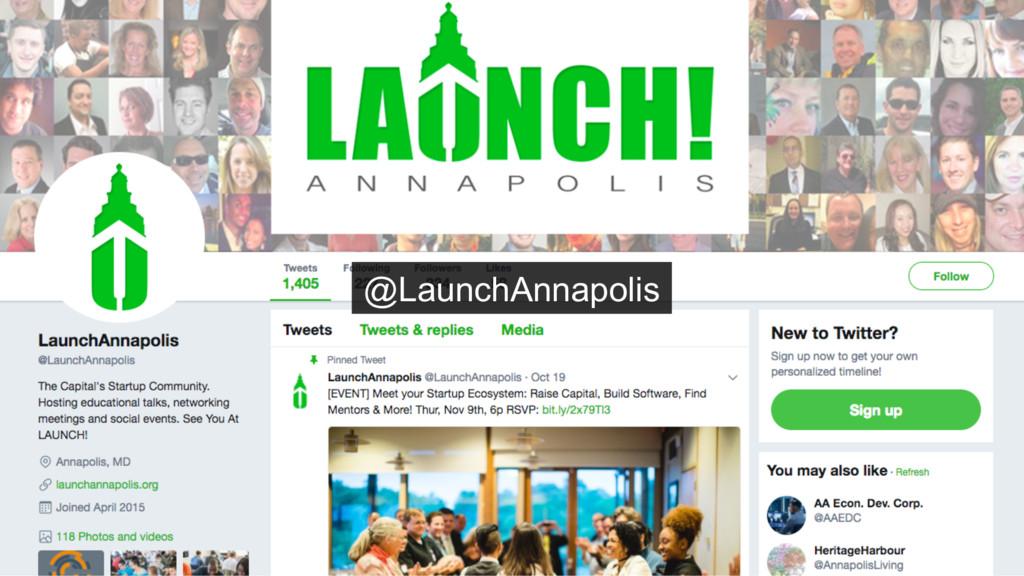@nathenharvey @LaunchAnnapolis