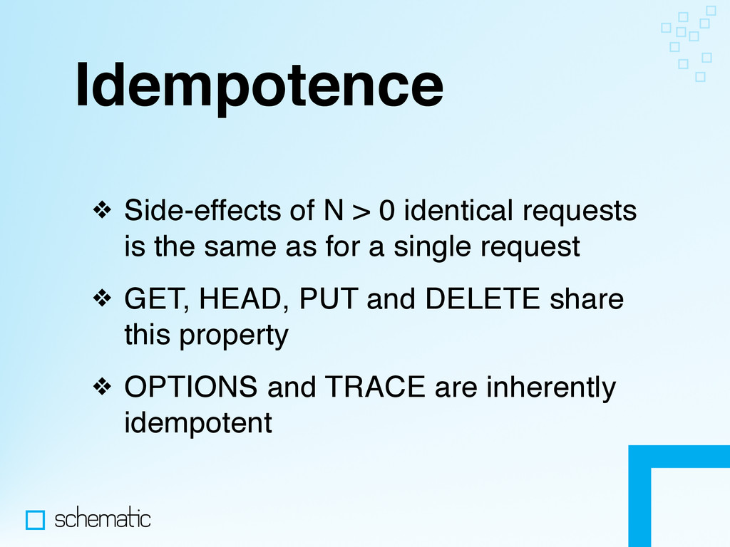 Idempotence ❖ Side-effects of N > 0 identical r...