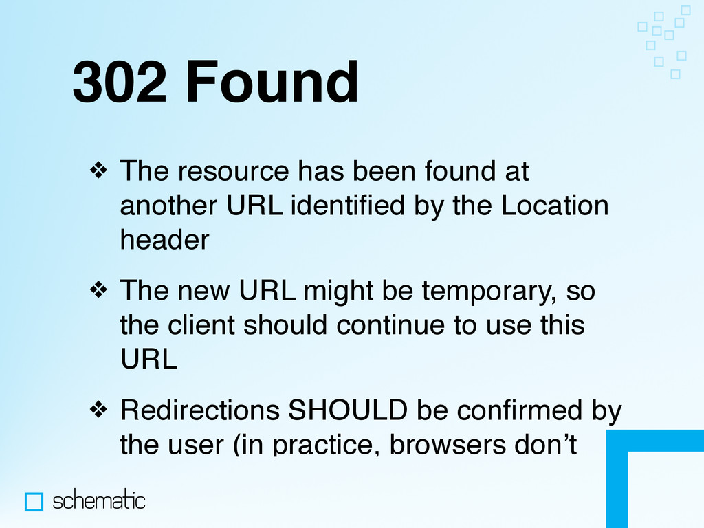 302 Found ❖ The resource has been found at anot...