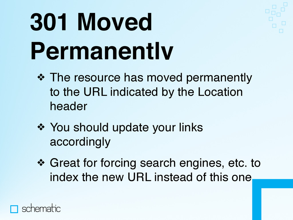 301 Moved Permanently ❖ The resource has moved ...