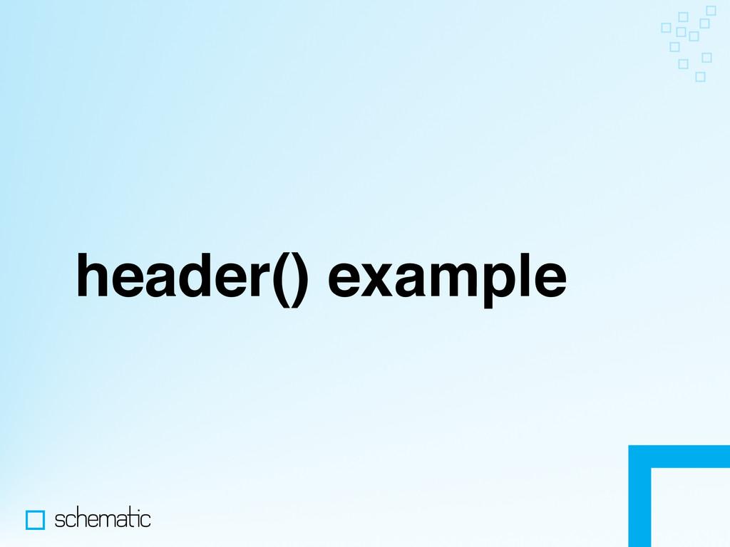 header() example