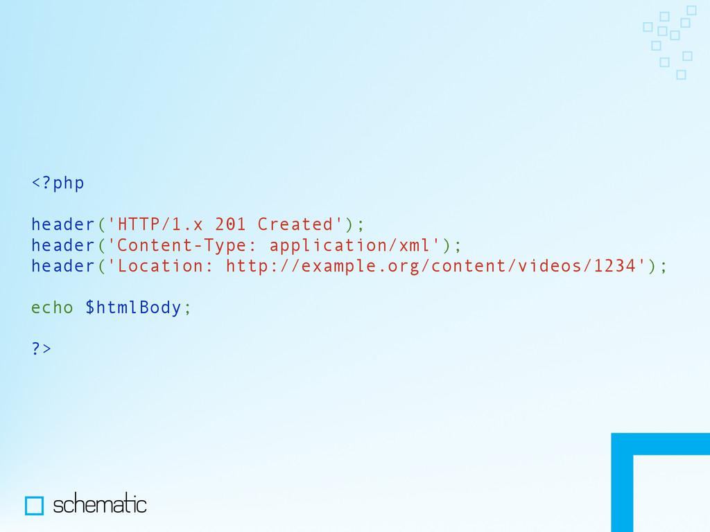 <?php header('HTTP/1.x 201 Created'); header('C...