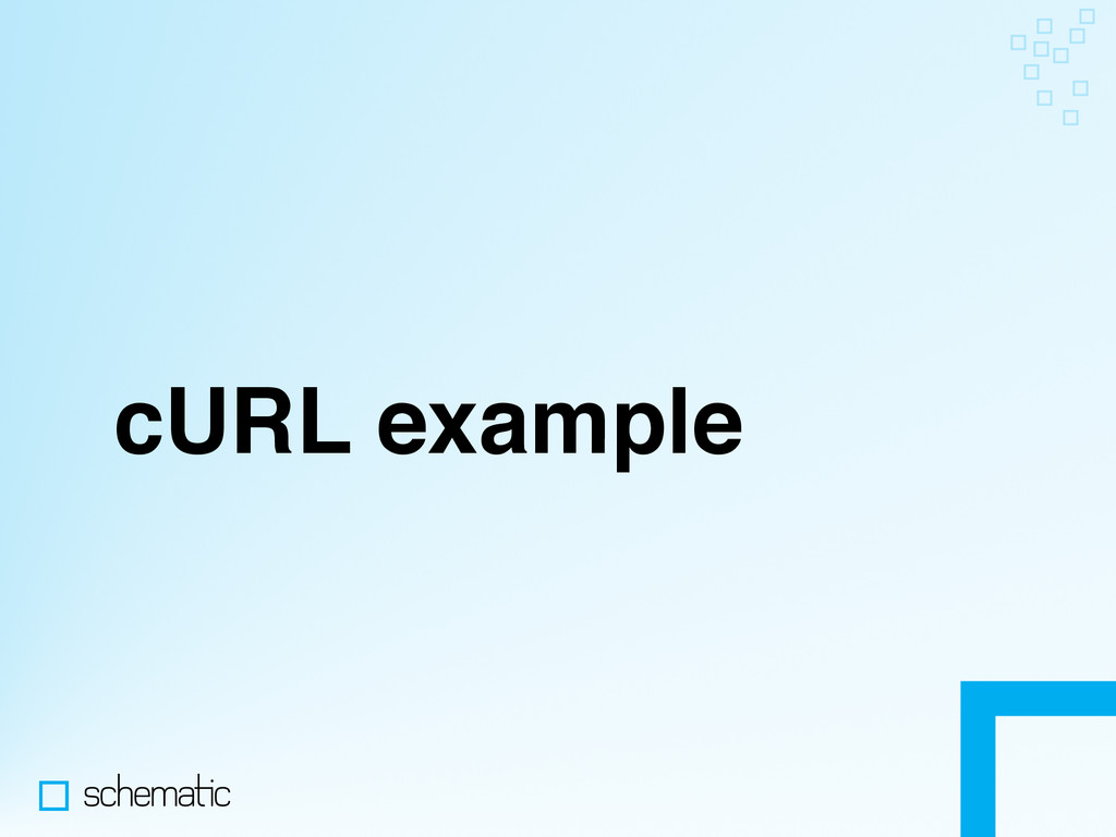 cURL example