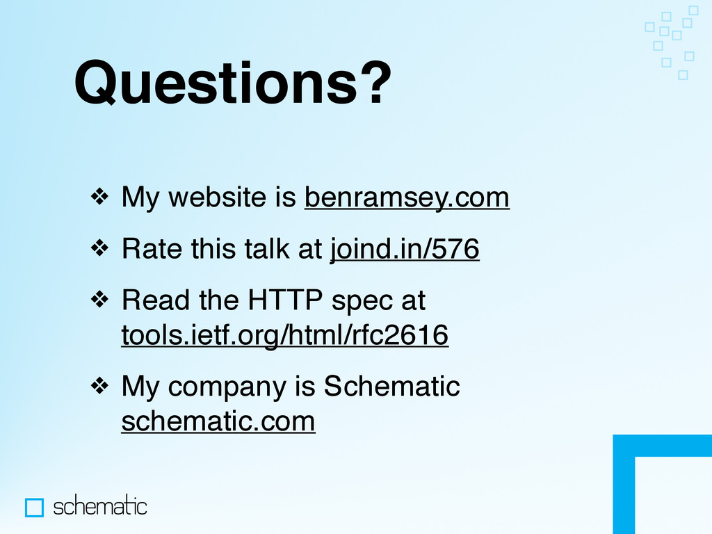Questions? ❖ My website is benramsey.com ❖ Rate...