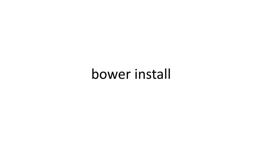 bower install