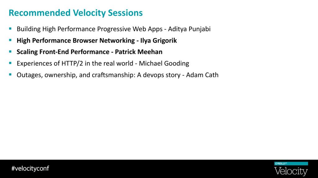 Recommended Velocity Sessions § Building High P...