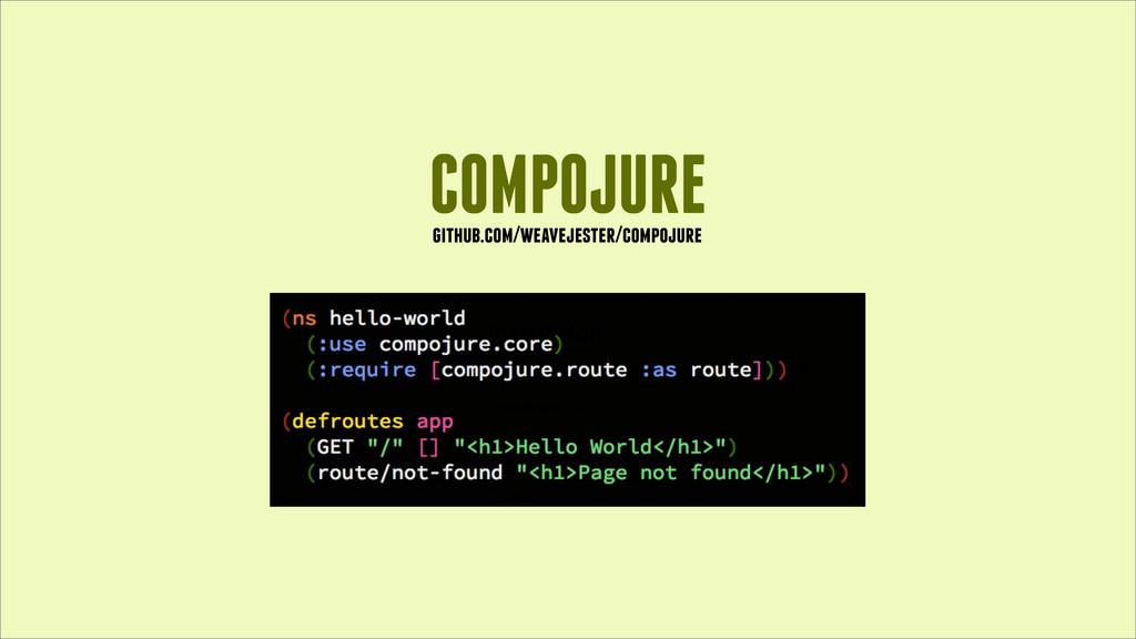 COMPOJURE github.com/weavejester/compojure