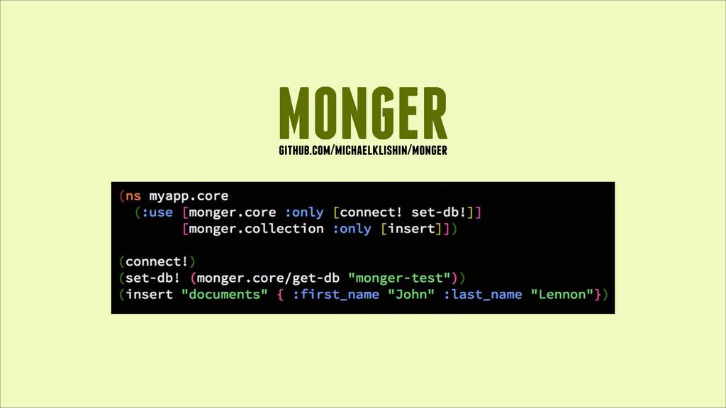 MONGER github.com/michaelklishin/monger