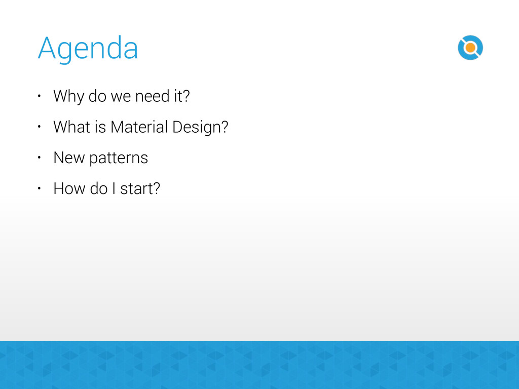 Agenda • Why do we need it? • What is Material ...