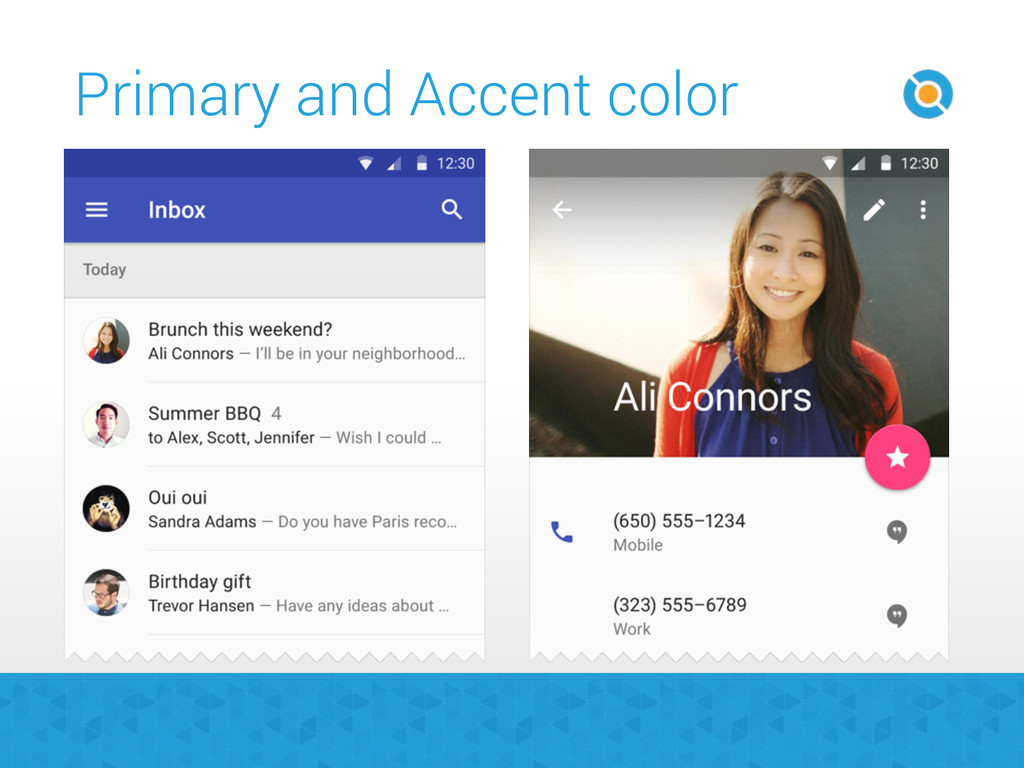 Primary and Accent color