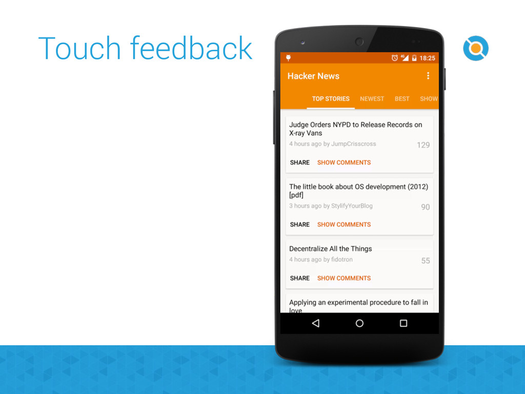 Touch feedback