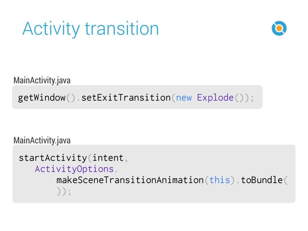 Activity transition 47 getWindow().setExitTrans...