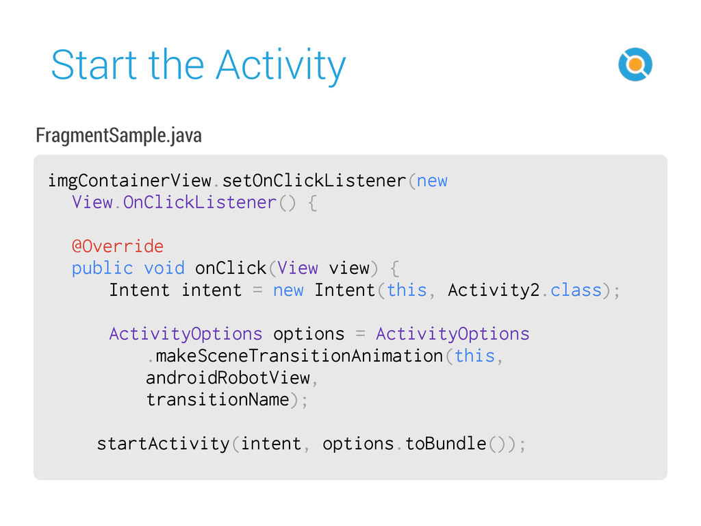 Start the Activity 50 imgContainerView.setOnCli...