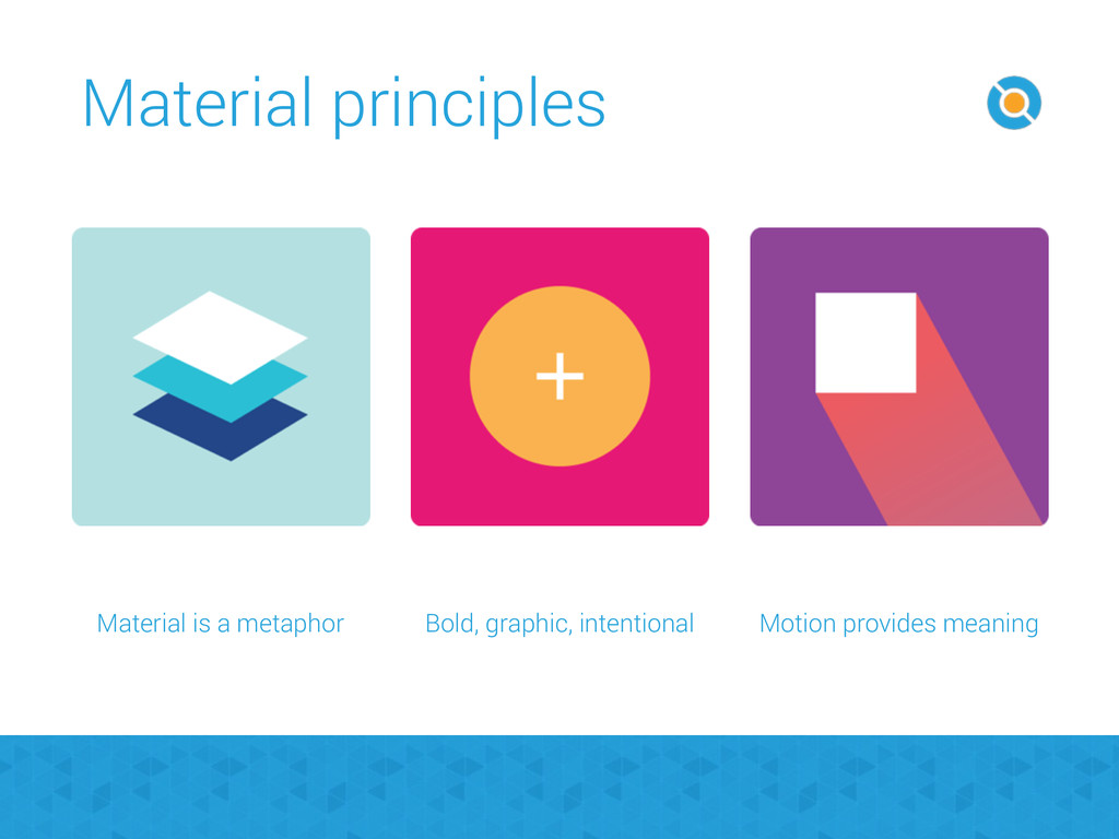 Material is a metaphor Bold, graphic, intention...