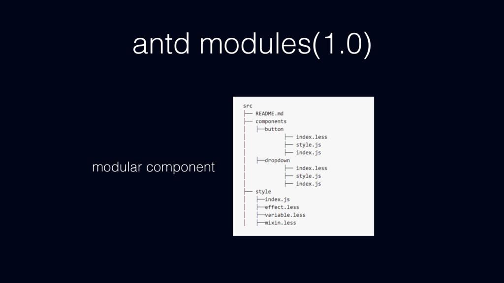 antd modules(1.0) modular component