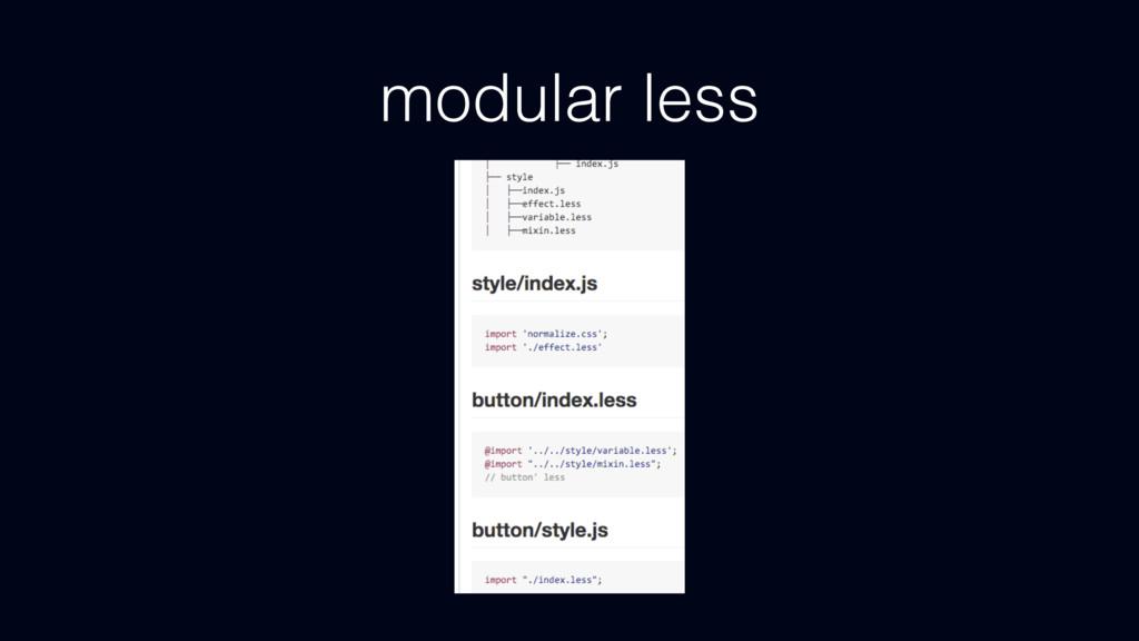 modular less