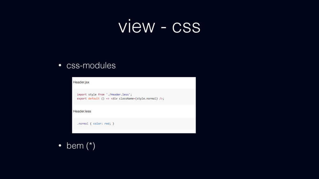 view - css • css-modules • bem (*)